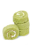 Matcha Cake Rolls. Stock Images