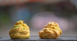 Matcha Chucream, dessert giapponese, usando come un fondo o wallp fotografie stock