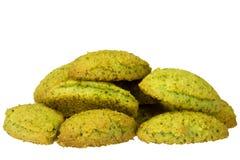 Matcha cookies Stock Photos