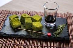 Matcha Cubes Green Tea Royalty Free Stock Photography