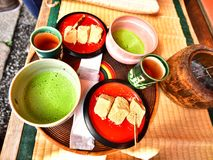 Matcha, culture japonaise de nourriture image stock