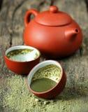 Matcha de poudre de thé vert photo libre de droits