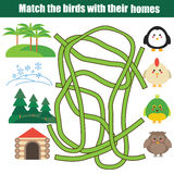 Matcha den bildande leken för barn royaltyfri illustrationer