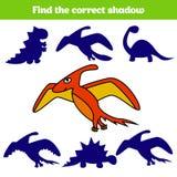 Matcha den bildande leken för barn Matchkrypdelar Fyndsaknadpussel Aktivitet för pre skolårungar dinosaur vektor illustrationer