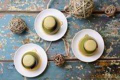 Matcha Dome Dessert Cake Stock Image