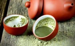 Matcha för grönt te Arkivbild