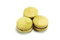Matcha för grönt te makron Royaltyfria Bilder
