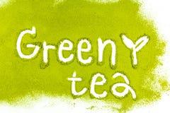 Matcha för grönt te med a arkivbilder