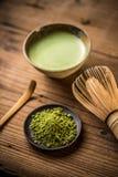 Matcha fine powdered green tea Royalty Free Stock Photography