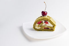 Matcha green cake Royalty Free Stock Photos