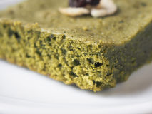 Matcha green tea brownie cake Stock Image