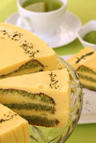 Matcha green tea cake Royalty Free Stock Image