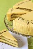 Matcha green tea cake Stock Image