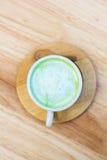Matcha Green tea. Matcha Green tea , A cat in Matcha Green, Top view Royalty Free Stock Photos