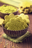Matcha green tea cookies Royalty Free Stock Photos