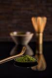 Matcha green tea powder Royalty Free Stock Photography