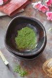 Matcha green tea powder Royalty Free Stock Photo