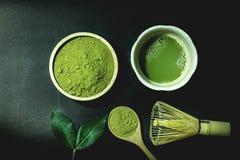 Matcha green tea Stock Images