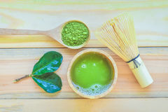 Matcha green tea stock photos