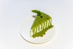 Matcha green tea sponge cake Royalty Free Stock Photography