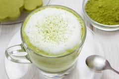 Matcha gren il latte del tè Immagini Stock Libere da Diritti