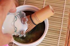 Matcha groen thee en poeder, Japanse thee Royalty-vrije Stock Fotografie