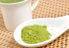 Matcha groene thee Stock Foto