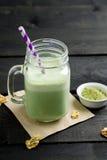 Matcha herbaty smoothie Obrazy Royalty Free