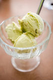 Matcha ice cream with sesame Stock Images