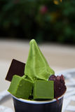 Matcha icecream Stock Image