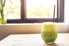 Matcha Iced Green Tea Royalty Free Stock Image
