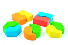 Matcha kvarter som isoleras på vit bakgrund Arkivfoton