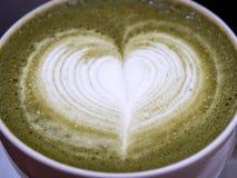Matcha latte royaltyfri bild