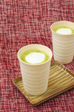 Matcha latte Stock Photo