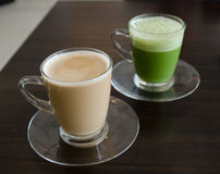 Matcha latte Stock Photos
