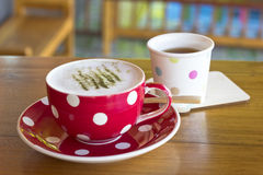 Matcha Latte Cup Stock Image