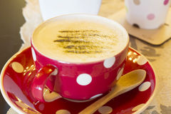 Matcha Latte Cup Stock Images
