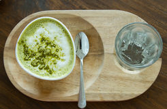 Matcha Latte Cup of green tea Stock Images