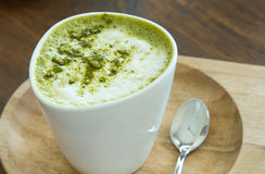 Matcha Latte green tea Royalty Free Stock Image