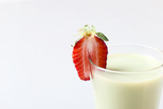Matcha latte with strawberry Stock Photography