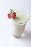 Matcha latte with strawberry Royalty Free Stock Photography