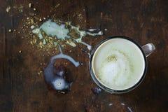 Matcha latte z mlekiem Zdjęcia Stock