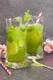 Matcha Mint Iced Tea Stock Image