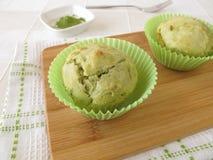Matcha muffins Royalty Free Stock Image