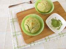 Matcha muffins Stock Image