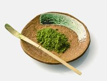Free Matcha Powder And Chasaku Bamboo Spoon Royalty Free Stock Image - 108608616