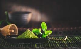 Matcha powder. Organic green matcha tea Royalty Free Stock Image