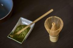 Matcha proszka herbaty set Obraz Royalty Free