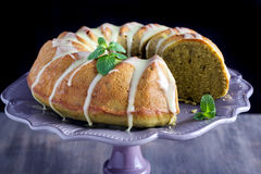 Matcha ring cake Royalty Free Stock Image