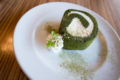 Matcha roll Royalty Free Stock Photography